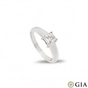 Princess Cut Diamond Ring 0.65ct F/VS1